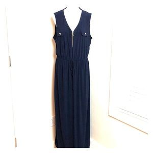 EMMA MICHELE long navy maxi dress